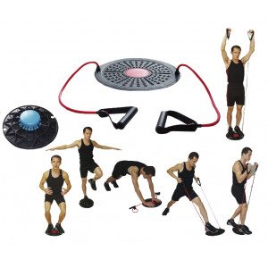 Balance Disk SPARTAN with elastic bands