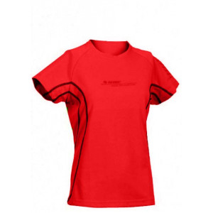 Ladies breathable T- shirt HI-TEC Cliona Wos, Red