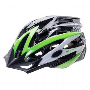 Bicycle helmet MARTES Bats, Black / Green