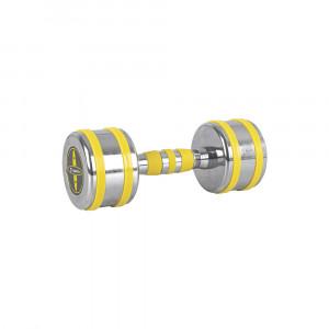 Chrome-plated dumbbell inSPORTline Yellsteel 6 kg