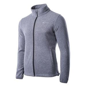 Men's fleece jacket HI-TEC Henis, Melange gray