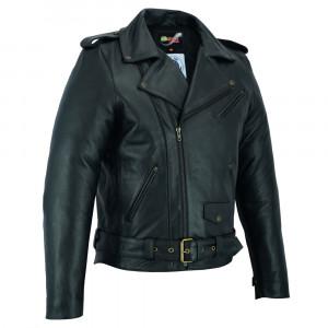 Mens motorcycle jacket BSTARD BSM 7830, Black