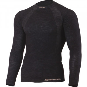 Woolen thermal blouse LASTING Wapol, Black