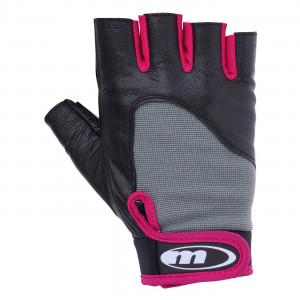 Women's fitness gloves MARTES Mitra, Black / Cyclam