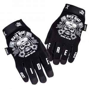 Motorcycle gloves W-TEC Piston Skull