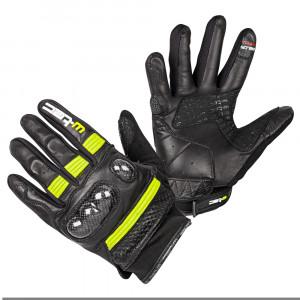 Motorcycle gloves W-TEC Rushin, Black / Yellow