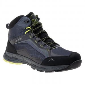Mens shoes ELBRUS Embawa MID WP, Gray / Black / Lime