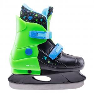 Children's ice skates MARTES Gagarin, Black / Green