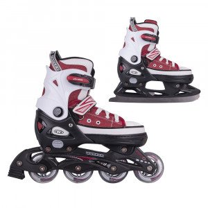Rollers 2in1 WORKER Gondo, Red