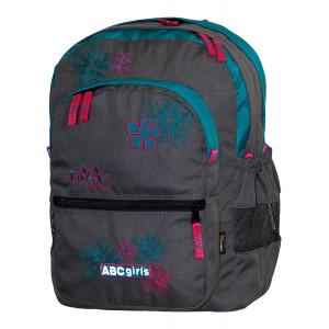 Backpack TASHEV ABC Girls - Gray / Green