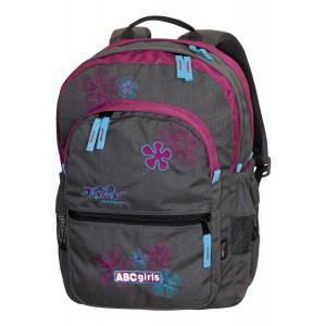Backpack TASHEV ABC Girls - Gray / Purple