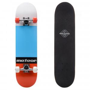 Skateboard METEOR Salty, Red / Blue