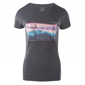 Womens T-shirt ELBRUS Ukaja III, Black melange