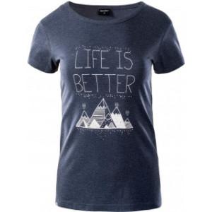 Womens T-shirt HI-TEC Lady Hanni, Dark Blue