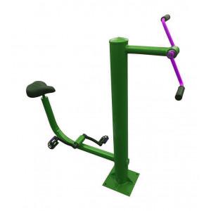 Combined outdoor exercise bike