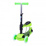 3-in-1 Scooter WORKER Nimbo, Green