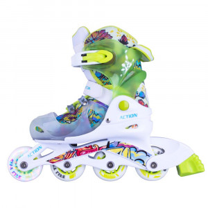ACTION Doly Roller Child with Lights, Green