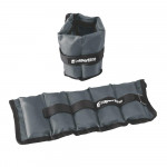 Adjustable Wrist and Ankle Weights inSPORTline GrayWeight 2x1 kg