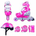 Children's Rollerblading Set WORKER Polly LED - with glowing wheels