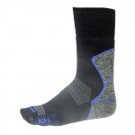 Thermo socks LASTING SCR, Black with blue