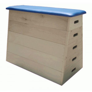 Gymnastic chest of five levels