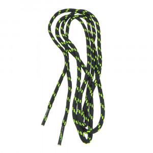 Shoelaces HI-TEC Lace Trip 90cm, Black/Lime