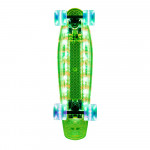 Light-Up Penny Board WORKER Lumy 200, 22 GREEN