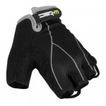 Men cycling gloves W-TEC Humyr, Black/Gray