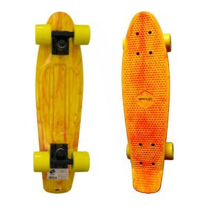 Penny Board SPARTAN Plastic Board 22.5, Yellow