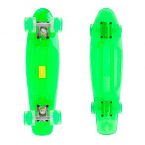 Pennyboard Maronad Retro Transparent W/ Light Up Wheels, Green