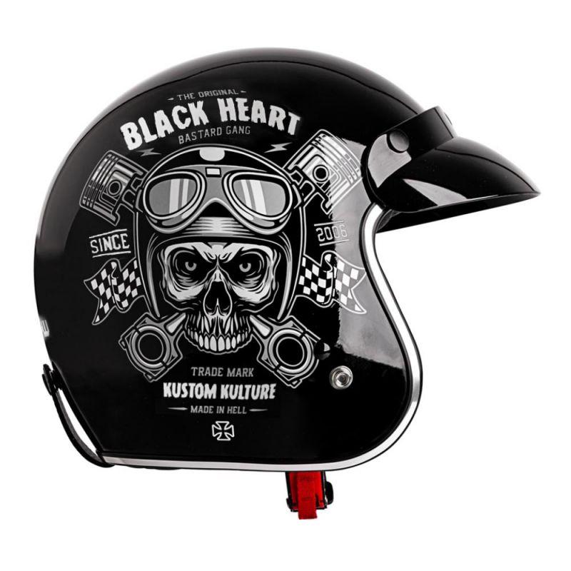 ad0126d71 Moto helmet W-TEC V541 Black Heart, Skull