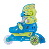 Childrens Rollerblades WORKER TriGo Skate LED – with Light-Up Wheels, Blue