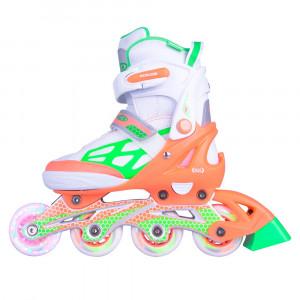 Adjustable Rollerblades WORKER Nubila with Light-Up Wheels,Orange