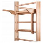 Wall Bar-Mounted Wooden Parallel Bars inSPORTline Tsibic