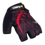 Women cycling gloves W-TEC Mison, Black-red