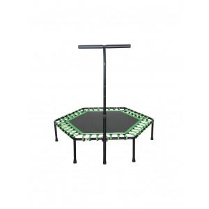 Spring-Free Trampoline with a Handlebar SPARTAN,  Hexagon 136 cm