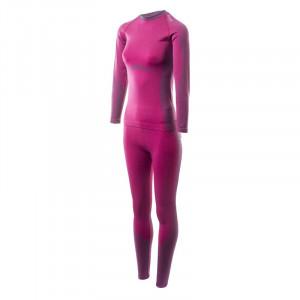 Womens Thermoactive underwear set HI-TEC Lady Zareen Sangria