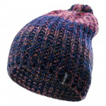 Womens winter hat HI-TEC Lady Hilma, Blue/Peach