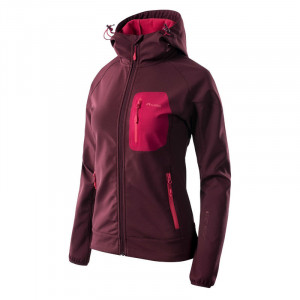 Womens sofshell jacket ELBRUS Sete, Wine/Pink