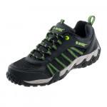Mens low profile hiking boots HI-TEC Pakomo, Black/Lime