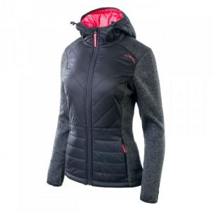 Womens jacket IGUANA Pavo W, Black melange