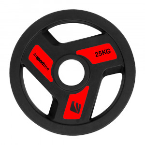 Olympic Rubber Coated Weight Plate inSPORTline Herk 25kg