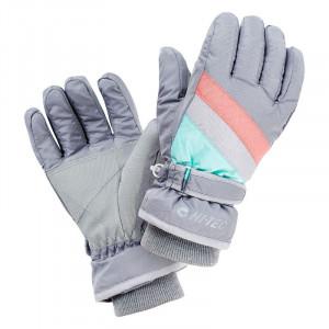 Juniors gloves HI-TEC Hugi JR, Grey