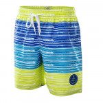 Juniors Swimming shorts AQUAWAVE Barcode Jr, White/Navy/lime