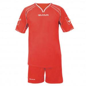 Mens Shirt / Short Set GIVOVA Kit Capo, Red