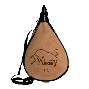 Leather canteen LAKEN Straight Form 1 l