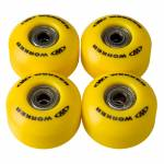The wheels on the skateboard WORKER 50*30mm incl. ABEC 5 bearings
