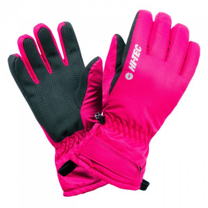 Womens winter gloves HI-TEC Lady Galena, Festival Fuchsia