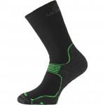 Merino wool trekking socks LASTING WSB, Green