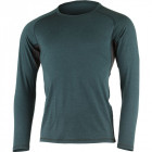 Mens merino wool thermal top LASTING Lery, Petrol
